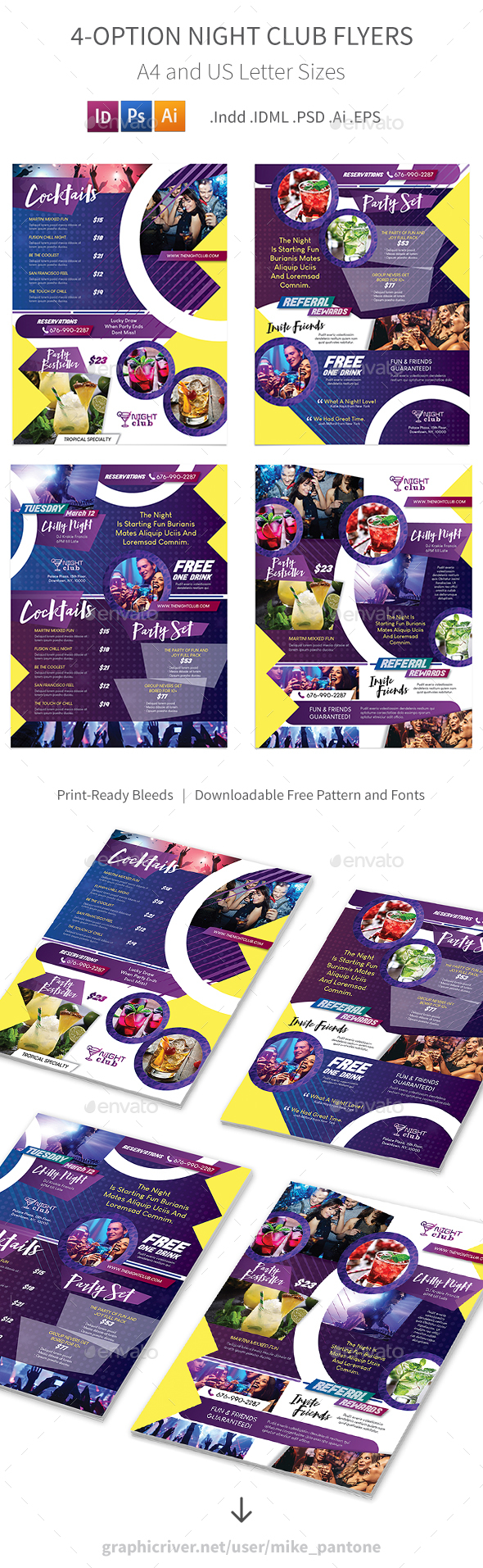 Night Club Flyers – 4 Options - Corporate Flyers