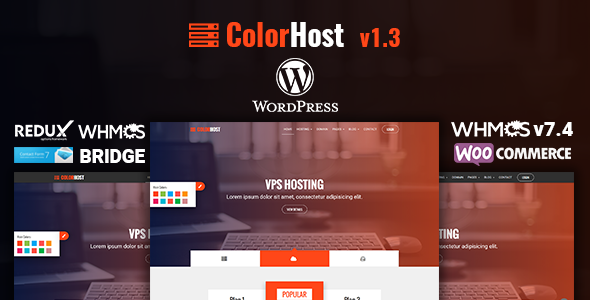 Image of ColorHost | Responsive Web Hosting and WHMCS WordPress Theme