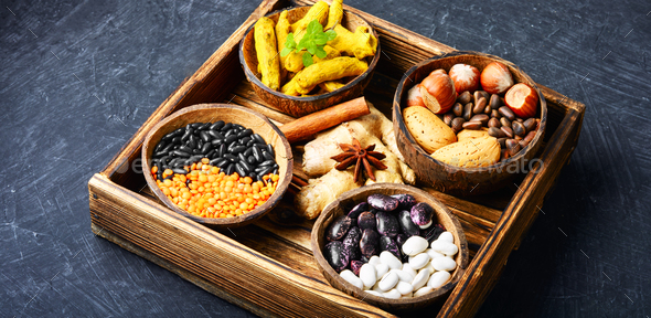 Ingredients of healthy food - Stock Photo - Images