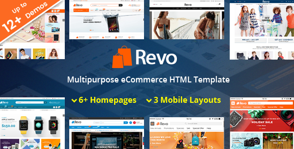 Revo - Responsive MultiPurpose HTML 5 Template (Mobile Layouts Included)