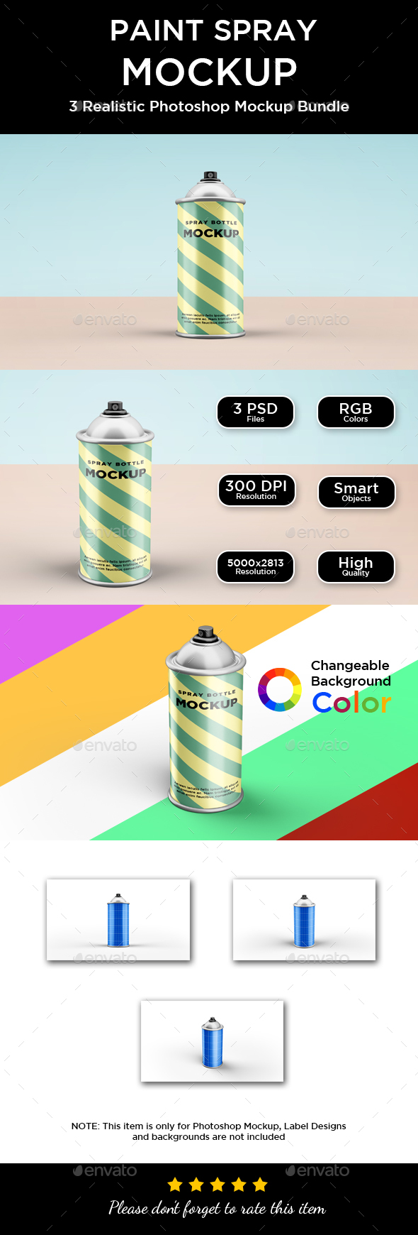 Paint Sprey Mockup - Miscellaneous Packaging