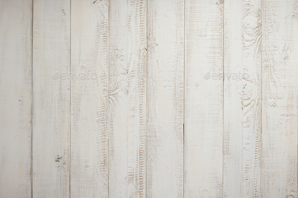 white plank wooden background - Stock Photo - Images
