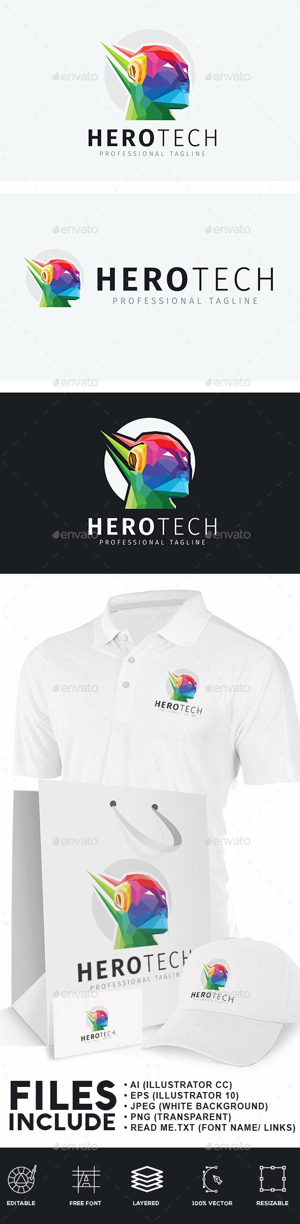 Hero Technology Logo - Humans Logo Templates