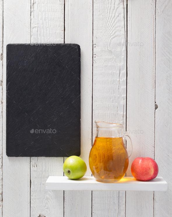 apple juice at shelf - Stock Photo - Images