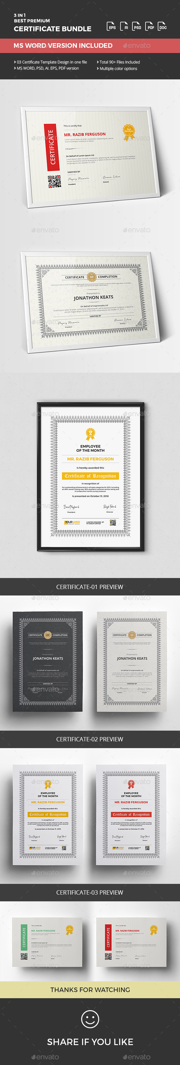 Certificate Bundle - Certificates Stationery