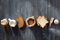 bread and bakery products on wood - PhotoDune Item for Sale