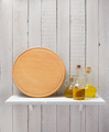 cutting board and oil at wooden shelf - PhotoDune Item for Sale