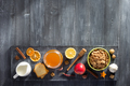 healthy food on wooden table - PhotoDune Item for Sale
