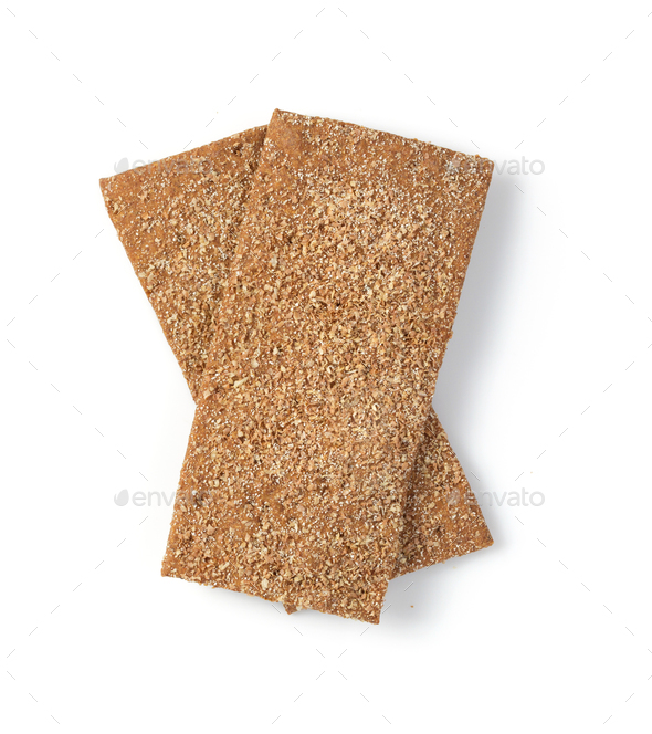 crispy bread isolated on white - Stock Photo - Images