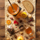 glass jar of honey on wood - PhotoDune Item for Sale