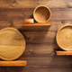 wooden kitchenware at shelf - PhotoDune Item for Sale