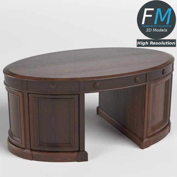 Oval Office Executive Desk HR - 3DOcean Item for Sale