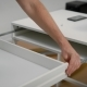 Man Is Inserting a White Desk Drawer Into the Frame, Adjusting the Metal Guides, Assembling of - VideoHive Item for Sale