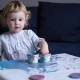 Toddler Girl Painting with Her Hands - VideoHive Item for Sale