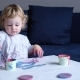 Toddler Girl Painting with Paintbrush - VideoHive Item for Sale