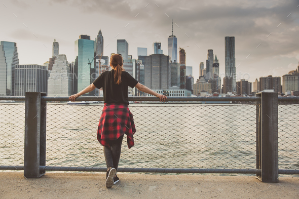 Enjoying the New York view - Stock Photo - Images