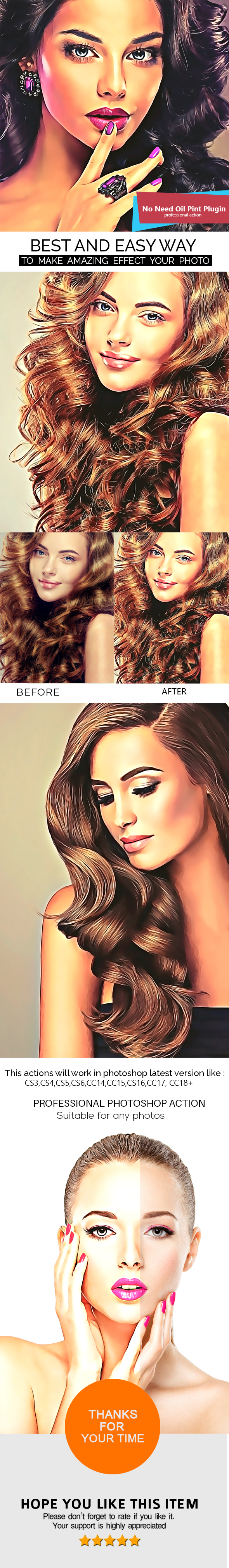 Vector Painting Photoshop Action V2 - Photo Effects Actions