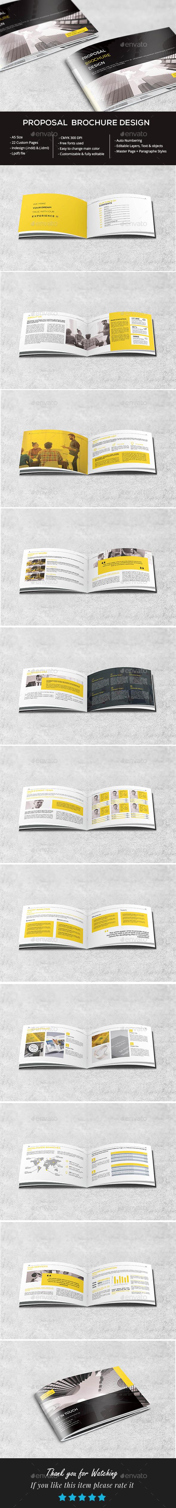 A5 Clean Proposal Brochure - Brochures Print Templates