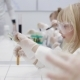 Children Do an Experiment in a Chemistry Class - VideoHive Item for Sale