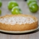 Slicing Freshly Baked Apple Pie with Sharp Kitchen Knife. - VideoHive Item for Sale