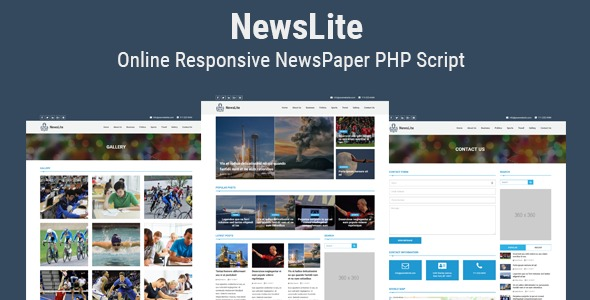 NewsLite - Online Responsive NewsPaper CMS - CodeCanyon Item for Sale