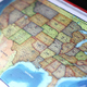 USA States Map On Touch Screen Computer - VideoHive Item for Sale