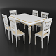 Dining set of classic Italian design consisting of a table and chairs Attimec Infinity