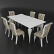 Dining set of classic Italian design consisting of a table and chairs Betamobili ottocento italiano
