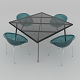 Dining set of Italian design consisting of a table Calligaris Frame and chairs Calligaris Bloom