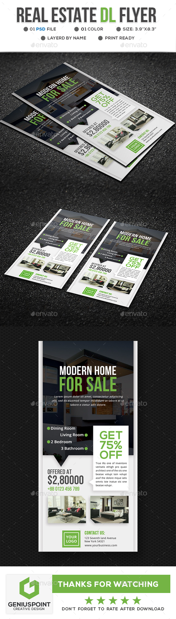 Real Estate Dl Flyer - Corporate Flyers