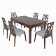 Dining set of classic Italian design consisting of a table and chairs GiuliaCasa Michelangelo
