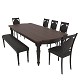 Dining set of classic design consisting of a table and chairs Mebelsky Fiorenca