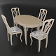 Dining set of classic design consisting of a table Alt-5-12 and chairs Sibarit-7 - 3DOcean Item for Sale