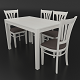 Dining set consisting of a table and chairs Ralf