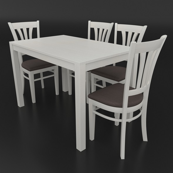 Dining set consisting of a table and chairs Ralf - 3DOcean Item for Sale