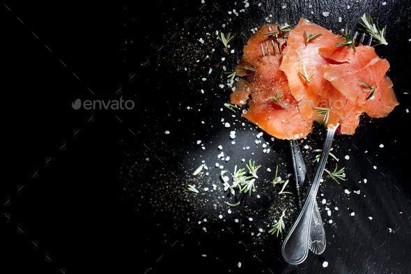 Salmon based dish - Stock Photo - Images