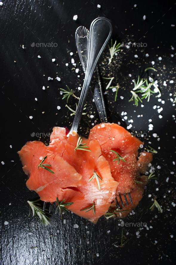 Salmon based dish - Stock Photo - Images
