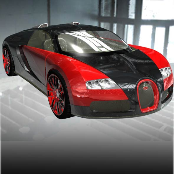 Bugatti Veyron EB 16.4 Super Sport Car 3D Model - 3DOcean Item for Sale