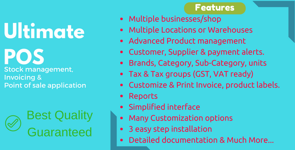 Ultimate POS - Advanced Stock Management, POS & Invoicing application - CodeCanyon Item for Sale