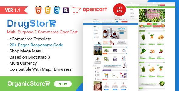 Drug Store Multipurpose e-Commerce OpenCart Theme - Health & Beauty OpenCart