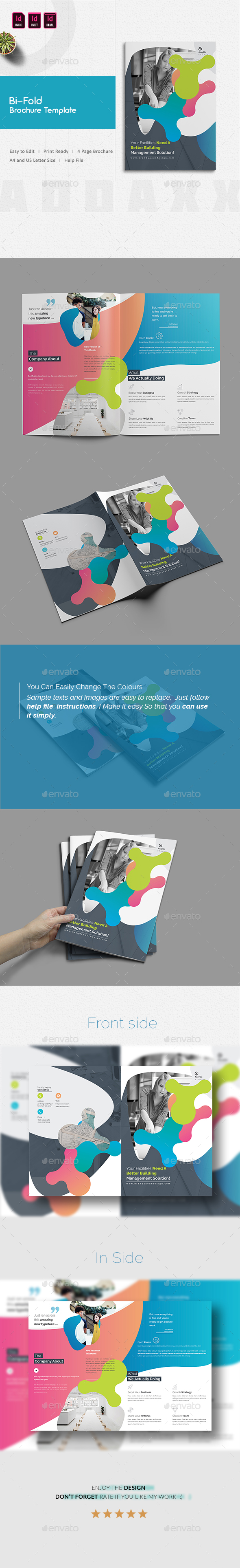 Bi-Fold Brochure Template - Corporate Brochures