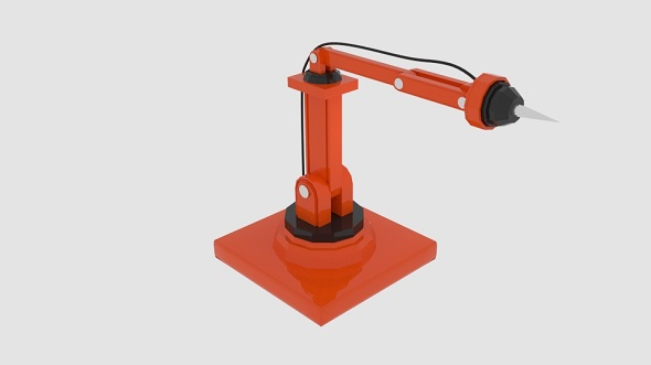 Needle Robot Arm - 3DOcean Item for Sale