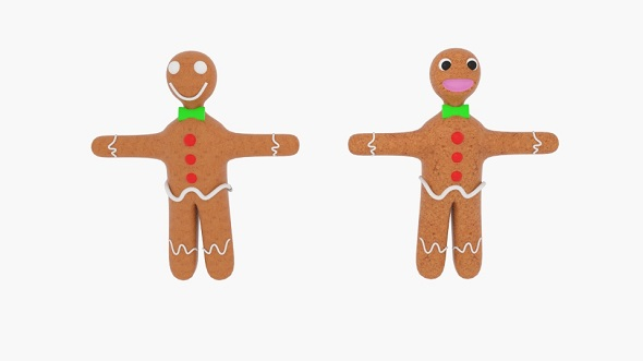 Gingerbread Character - 3DOcean Item for Sale