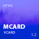 mCard - Material vCard / CV / Resume / Personal Template - ThemeForest Item for Sale