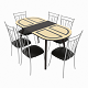 Dining set consisting of a table Milan Venge and chairs Premier