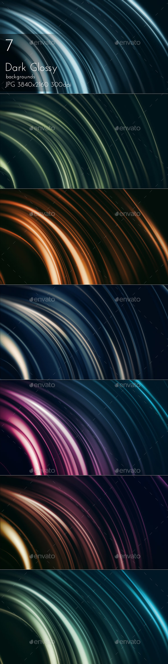 Dark Glossy - Abstract Backgrounds