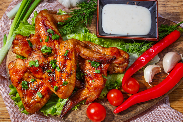 Fried chicken wings - Stock Photo - Images