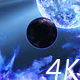 Abstract Nebula in Space with Big Blue Star and Planets and Energy Flares - VideoHive Item for Sale