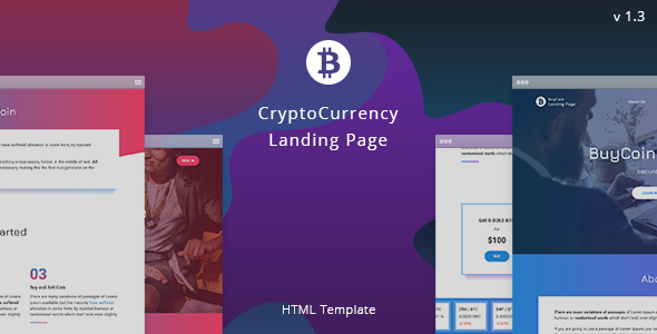 BuyCoin – Cryptocurrency Landing Page - Marketing Corporate