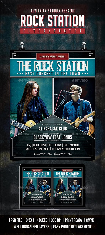 Rock Station Flyer / Poster - Concerts Events